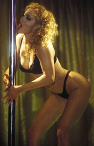 Elizabeth Berkley Licking the Stripper Pole at Cheetahs in Cult Movie Classic Showgirls
