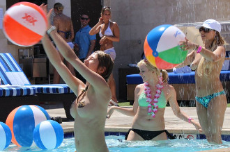Titty Ball is a Popular Sport at Sapphire Pool and Dayclub