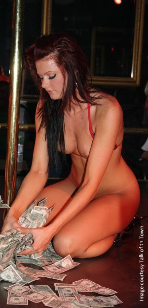 Nude stripclub dancers