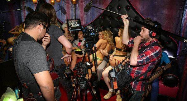 "On the set of ""Last Day of School"" in Palomino Club Las Vegas"