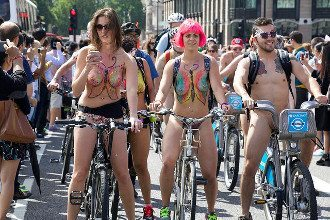 World Naked Bike Ride - London 2016