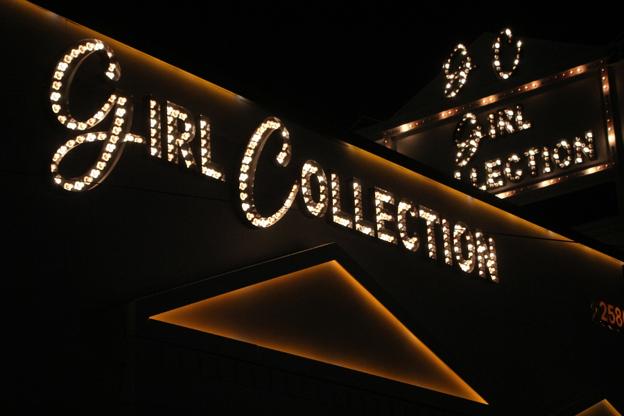 girl collection sign photo