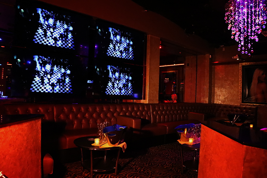 Leather sofas at Legends Room Las Vegas strip club