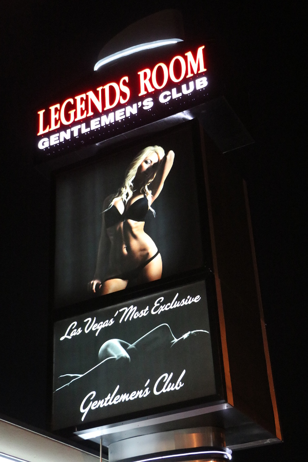 Legends Room Las Vegas Sign